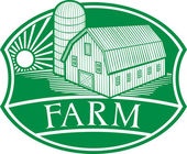 Farm symbol — Stock Vector