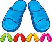 Flip flops set — Stock Vector