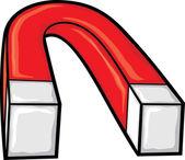 Horseshoe magnet — Stock Vector