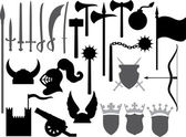 Medieval weapons icons — Stock Vector