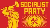 Socialism poster — Stock Vector