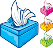 Tissue boxes — Stockvector