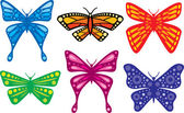 Set of colorful butterflies — Stock Vector