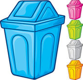 Recycle bin collection — Stock Vector