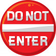 Do not enter warning sign — Stock Vector