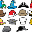 Collection of hats — Stock Vector #34326461