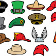 Collection of hats — Stock Vector #34326481