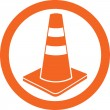 Traffic cone icon — Stock Vector