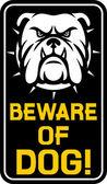 Diffidate del segno del cane — Vettoriale Stock