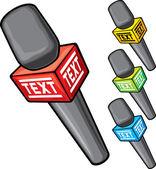 символ микрофона — Cтоковый вектор