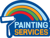 Painting services label — Stock Vector