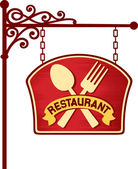 Restaurant sign — Stockvektor