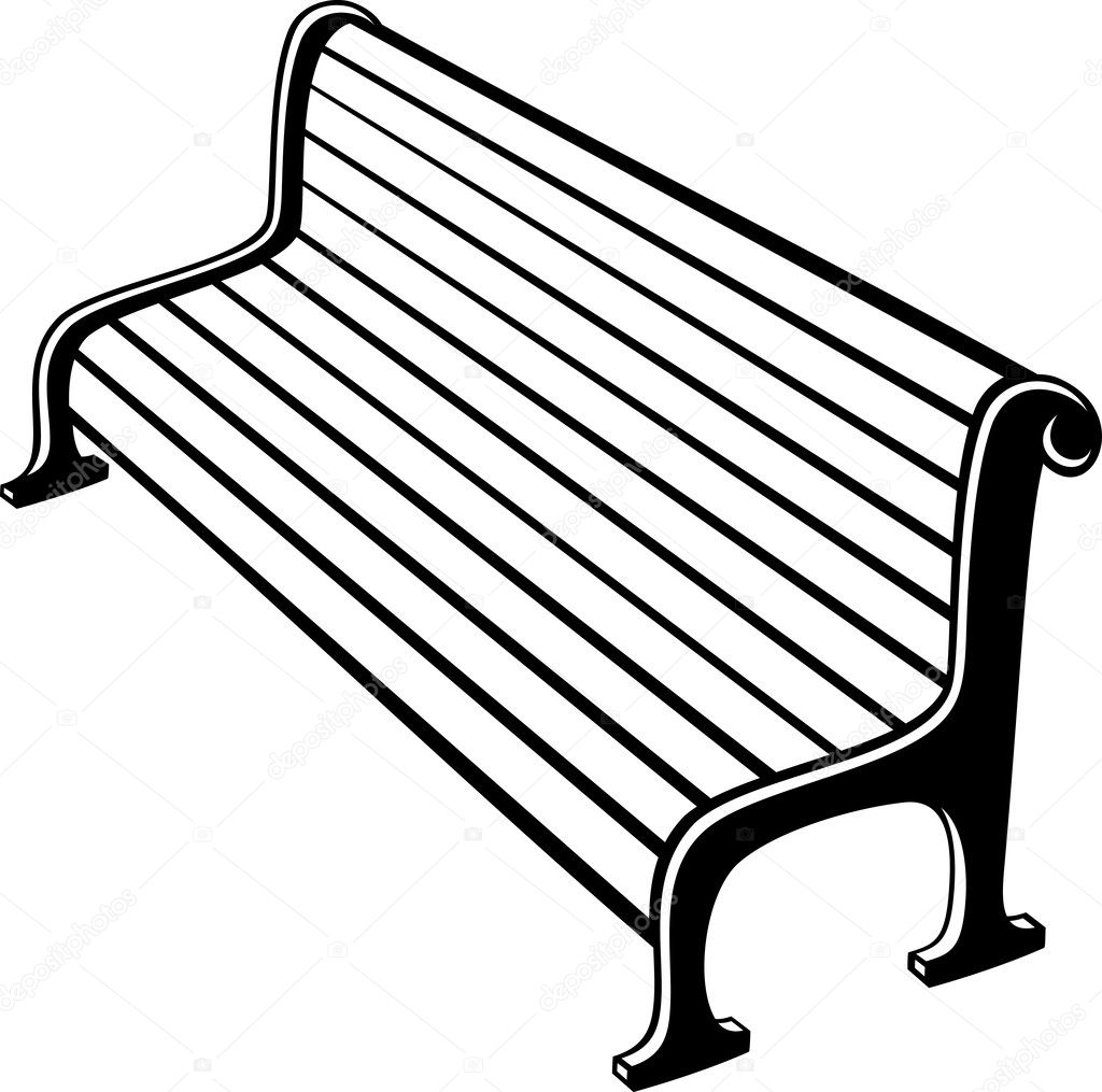 Park bench — Stock Vector © Tribaliumivanka #34326703