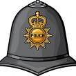 Helmet of police officers — Stock Vector