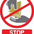 Stop corruption sign — Image vectorielle
