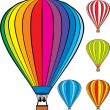 Hot air balloons — Vector de stock #35644459