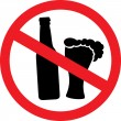 No alcohol sign — Stock Vector