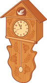 Wooden cuckoo clock — Vettoriale Stock