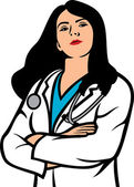 Woman doctor — Stock Vector