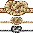 Knotted rope — Stock Vector
