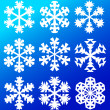 Collection of snowflakes - Illustration — Stock Vector