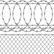 Barbed wire (wired fence) — Stock Vector