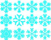 Kar taneleri topluluğu — Stok Vektör