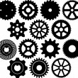 Stock Vector: Gear collection
