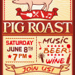 Pig roast poster — Stock Vector #39399121