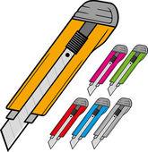 Cutter knife — Stock Vector