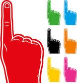 Foam finger collection — Stock Vector