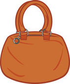 Brown woman handbag — Stock Vector