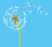 Dandelion in the wind — Stock Vector