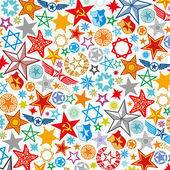 Seamless stars pattern — Stock Vector