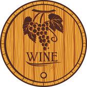 Wooden barrel for wine — Stock Vector