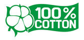 100 percent cotton — Stock Vector