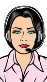 Helpline operator — Stock Vector