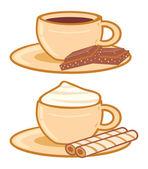 Xícaras de café — Vetor de Stock