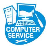 Computer service label — Stock Vector