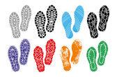 Imprint soles shoes — Stock Vector
