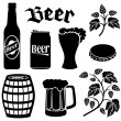 Beer icons set — Stock Vector #50289339