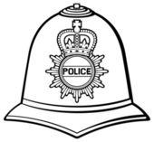 British police helmet — Stock Vector