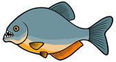 рыба пираньи — Cтоковый вектор
