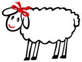 Sheep on white — Stock Vector