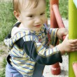 Cute baby boy outdoor portrait — Stock Photo