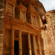 Toursts near Treasury, Petra, Jordan - Stock Photo