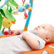 Playing baby over white — Stock Photo #12608346