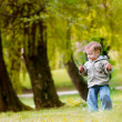 Royalty-Free Stock Photo: Baby boy in autumn park