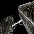 Petronas towers at night - Stock Photo