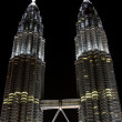 Petronas towers at night — Stock Photo #12608624